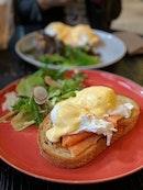 smoked salmon eggs benedict • $16