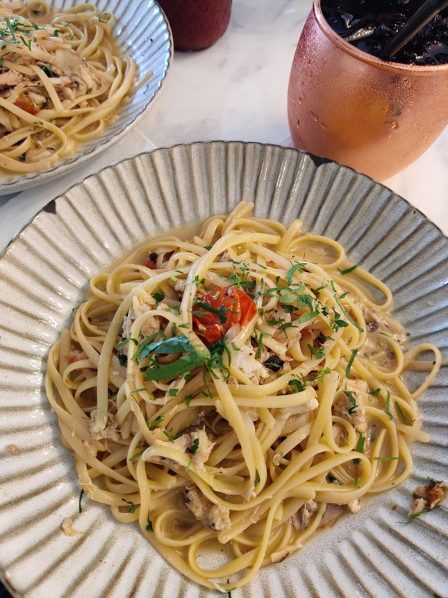 Crabmeat Linguine