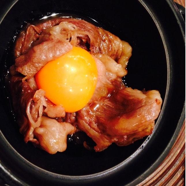 Wagyu Beef With Sukiyaki Sauce & Egg Yolk