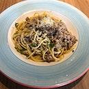 Spaghetti with mince pork