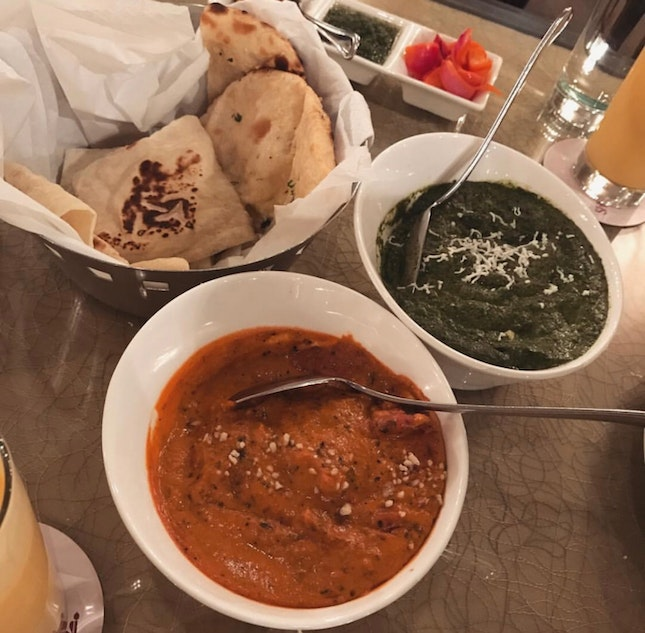 Butter Chicken & Palak Paneer