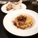Risotto pollo funghi & Calzone