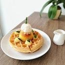 Triple Salted Egg Yolk Lava Waffle