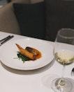 Oven Roasted Threadfin W Kataifi Prawn & Saute Green, Nantua Sauce