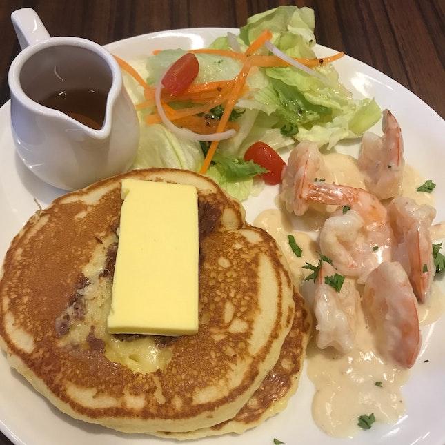 Prawn With Pancakes & Chicken Chop