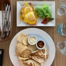 Smoked Salmon Egg Benedict & Pork Cheek Quesadilla