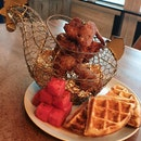 Chicken 'N' Watermelon 'N' Waffles ($40)