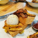 Candied Bacon & Banana French Toast ($16)
