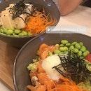 Salmon Poke Bowl & Tofu Zoodles