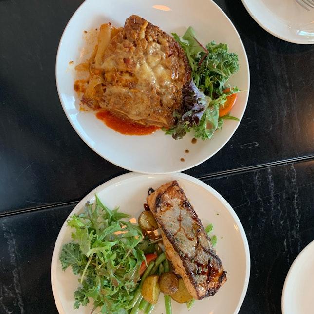 Miso-Baked Salmon & Wagyu Beef Lasagne ($18)