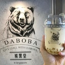 🐰 Honey Golden Pearl Green Milk Tea ($4.30) at DABOBA 熊黑堂.