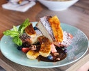 French Toast With Caramelided Banana ($15)