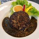 Black Hakata Curry With Wagyu Hamburg