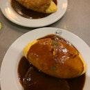 Demiglace Pork Cutlet Omurice