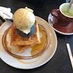 Waffle Ice Cream And Drink Set