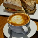 Ham & Cheese Sandwich + Latte
