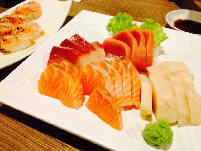 Fresh Sashimi Included In Buffet