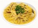 Laksa Seafood Spaghetti ($10.90)