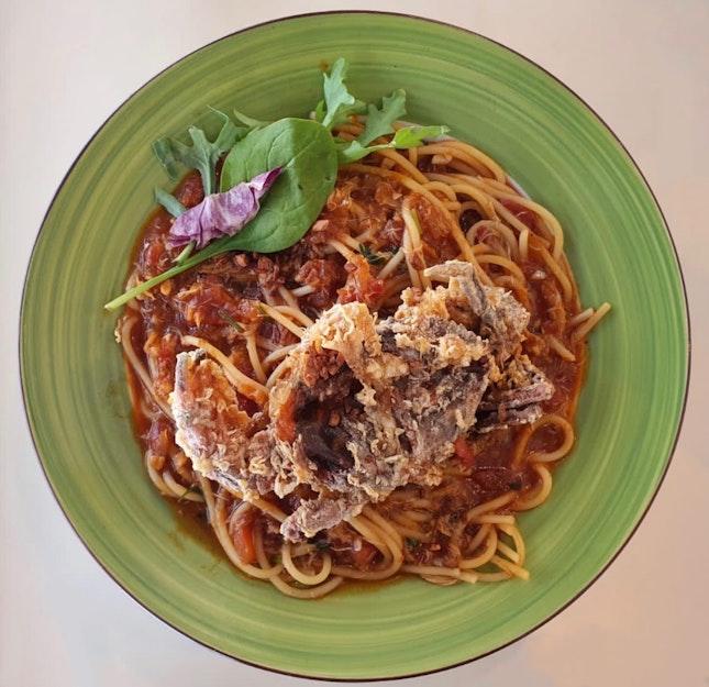 Chilli Crab Spaghetti ($16.50++)