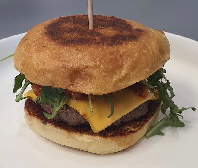 Bacon and Kimchi Cheeseburger ($16)