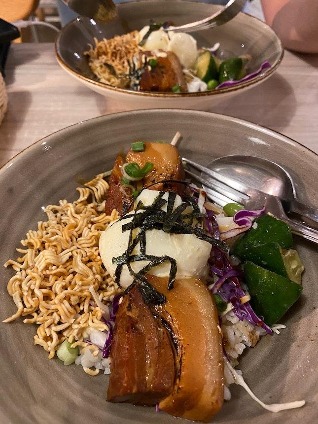 Pork Belly Miso Grain Bowls