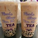 Great Roasted Sencha Milk Tea & Peach Milk Tea