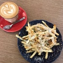 Truffle Fries + Latte