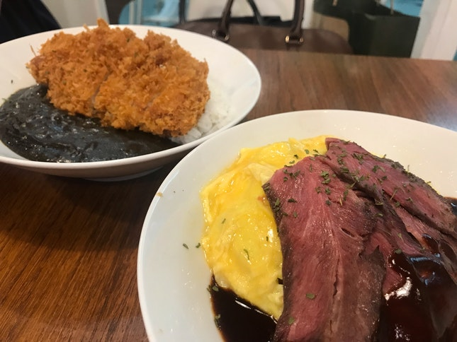 1-for-1 Beef Omu Rice