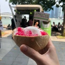 Coconut ice cream with red ruby ($6.80)