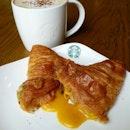 Salted Egg Yolk Lava Croissant