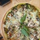 Pesto Mushroom Pizza
