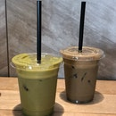 [Coffee] Iced Matcha Latte & Houjicha Latte