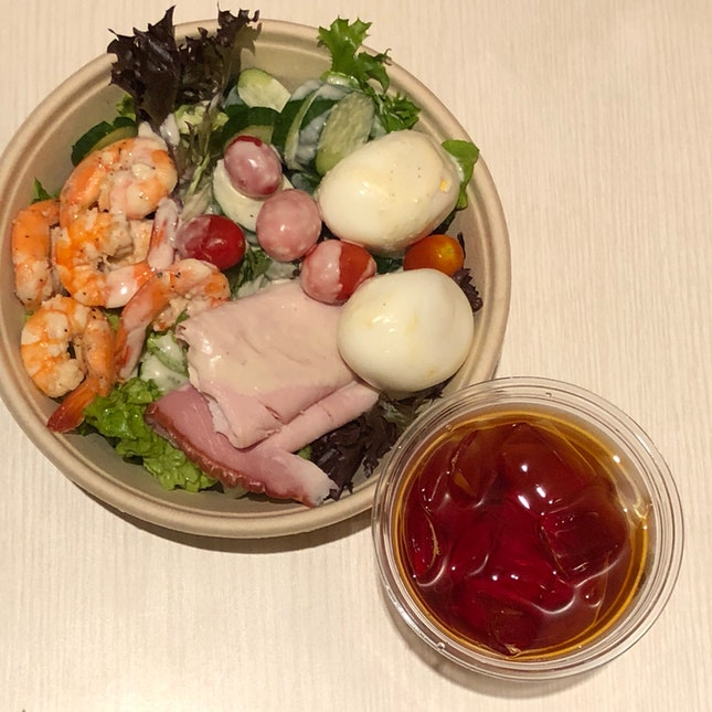 BYOB Salad Bowl A + Iced Rooibos Tea ($11.30 + $2)