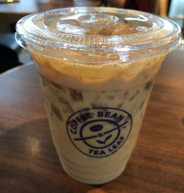 Cold Brew Vanilla Bean Latte ($7.50 - 10% Staff Discount)