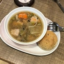 Tokyo Chicken Stew With Rustic Bread Roll