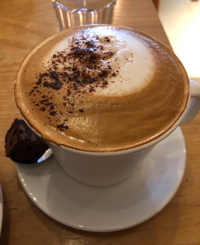 Cappuccino (Regular, $5.80 + $1 Soy Milk)