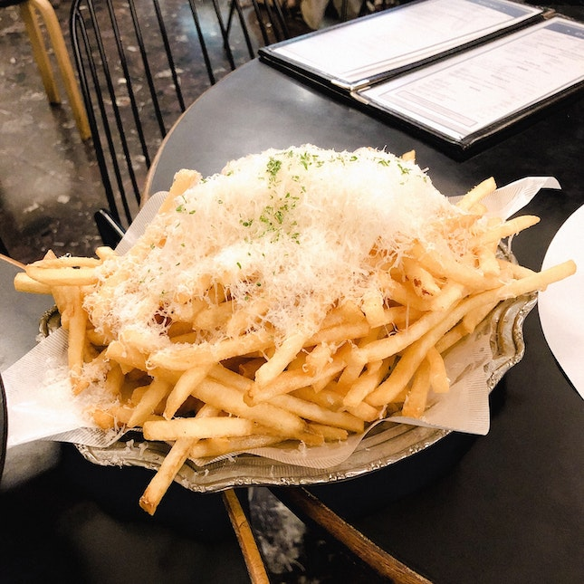 Truffle Shoestring Fries ($15)
