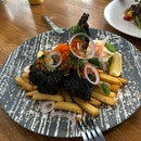 Squid Ink Fish And Chips