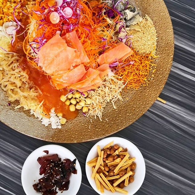Prosperity Smoked Norwegian Salmon Yusheng || @TungLokGroup XiHe Peking Duck Restaurant .