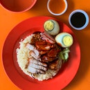 Roast meat and char siew rice [~$4]