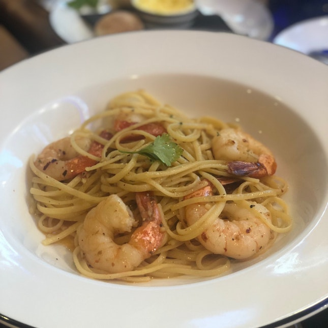 Aglio Olio With Prawns