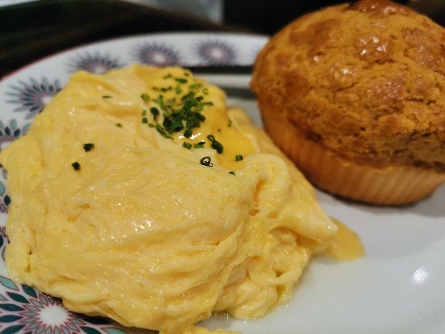 Scrambled Eggs and Bolo Bun