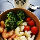 Poached Prawn and Couscous Bowl