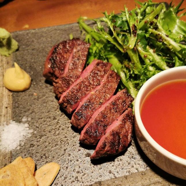 Charcoal Grilled Japanese A5 Wagyu (Shin-Shin)