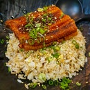 Unagi Garlic Fried Rice ($21.80) And Wokhei Porridge ($22.80)