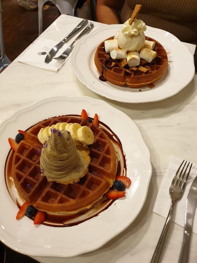 Pretty Decent Ice Cream Waffles