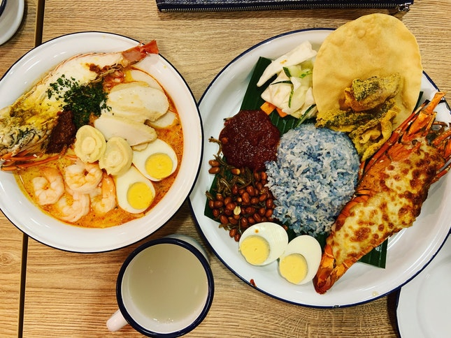 Premium Laksa With Lobster And Nasi Lemak With Lobster Gratin