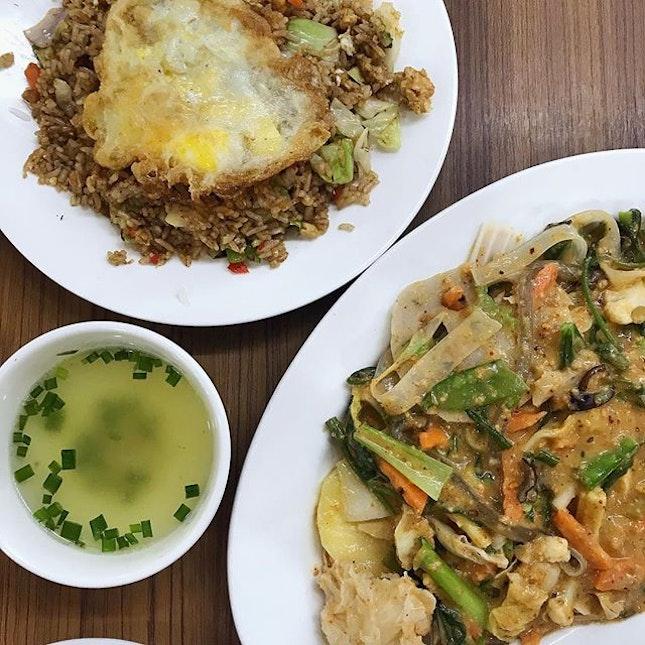 【Spicy Fried Rice & Mala Hin】A yan kg tl〜😋👍🏻 #mandalaystyle #foodstagram #myanmarfood #burmesefood #foodporn #sgfood #sgfoodie #instafood #instafoodies #burpple #burpplesg