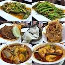 Tumis Bendi Belachan | Tumis Buncis Belachan | Rendang Sapi | Nasi Putih | Tahu Telor | Kepala Ikan Asam Pedas | Udang Asam Pedas #pagisore #foodstagram #indonesianfood #foodporn #instafood #instafoodie #sgfood #sgfoodies #burpple #burpplesg