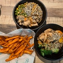 1-for-1 protein bowls and sweet potato fries